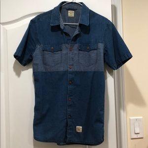 Vans Blue Denim Button Down Shirt
